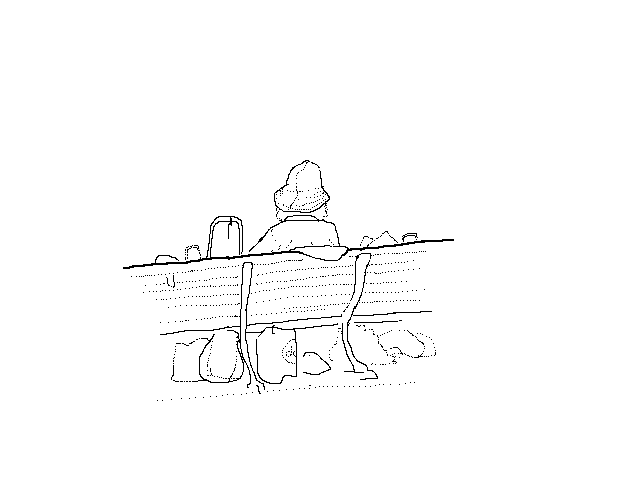 #1263 Man On A Bench